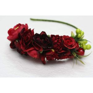 """Red hair accessory """"Red roses"""""""
