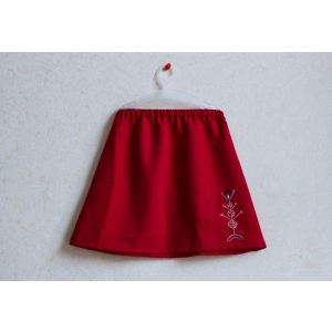 "Red skirt for girls ""Tree of Life"""