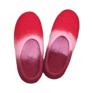 Red slippers for women