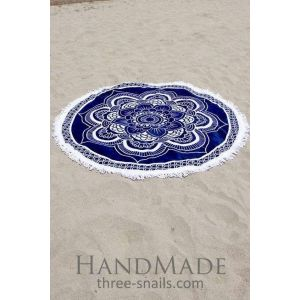 Round beach throw