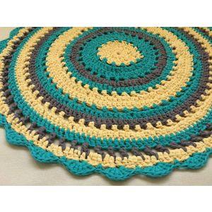 """Round crochet rug """"Comfort"""""""
