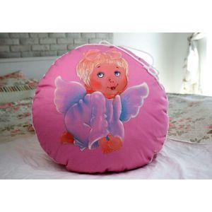 "Round cushion ""Angel sleep"""