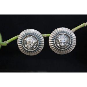 Round stud earrings for women