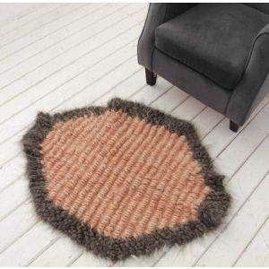 "Round wool rug ""Harmony"""