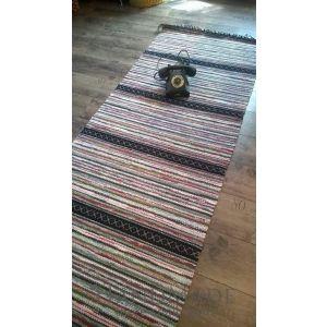 Rustic hand woven runner rug