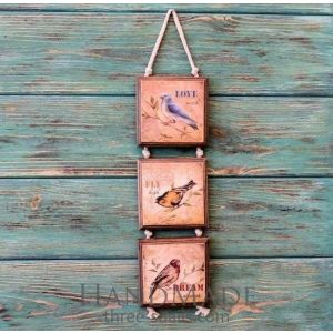 "Rustic wood sign ""Fly dream"""