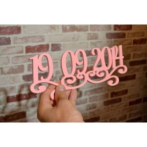 "Rustic Wood Sign ""Сommemorative date"""