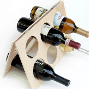 Wine bottles wood stand