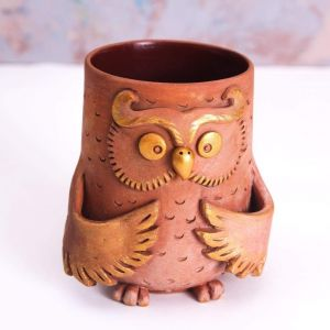 "Сeramic mugs ""Owl"""
