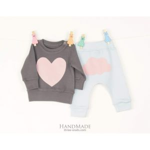 Set for baby girl Pink Heart