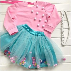 Set for girl with tutu skirt