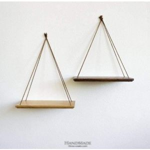 Set of 2 hanging shelves «He and she»