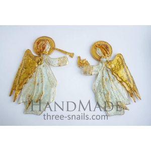 "Set of glass angels ""Harbingers of Christmas"""