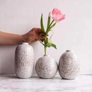 Set of gray vases