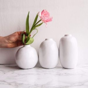 Set of white vases