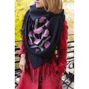 "Shawl scarf ""The breath of the garden"""