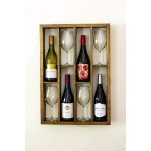 Shelf for wine bottles