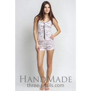 Short set pajamas for ladies (vest and shorts)