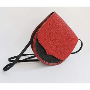 "Shoulder bag ""Red texture"""