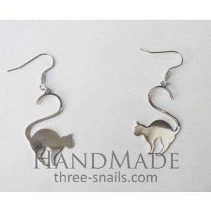 "Silver cat earrings ""Sphinxex"""