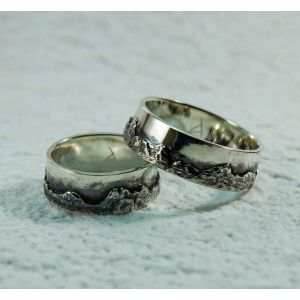 "Silver engagement rings ""Mountains"""