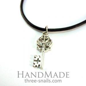 """Silver key pendant  """"Key"""""""