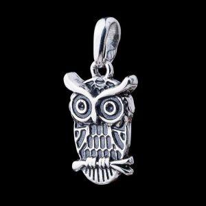 "Silver pendant ""Owl"""