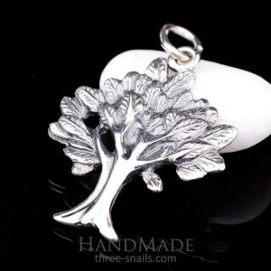 "Silver pendant ""Tree with leaves"""