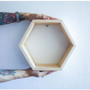 Small hexagon shelf