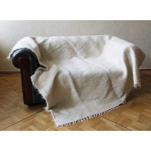 """Sofa throw """"White wool"""""""