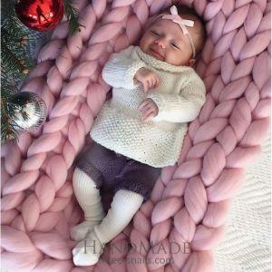 Soft merino baby blanket