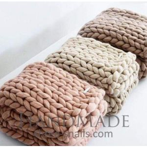 Soft merino sofa throw