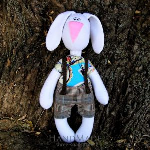 "Soft toy ""Bunny Stepashka"""