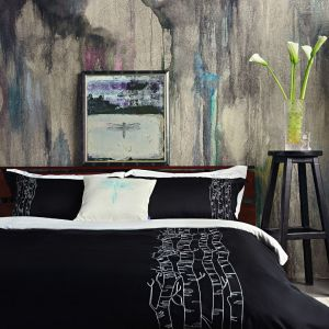 "Soft cotton bedding set ""Forest Song"""