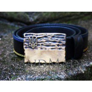 Square buckle belt «Flag»