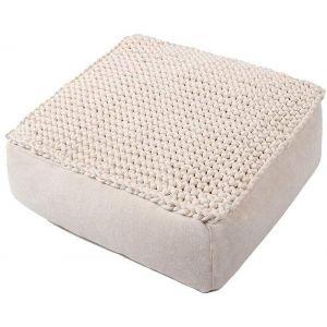 Square pouf ottoman