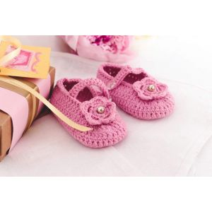 "Сrochet baby booties ""Flower"""