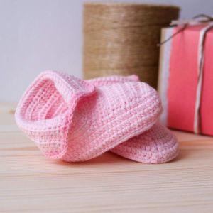 """Сrochet baby booties""""Sakura"""""""