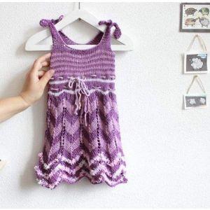 """Сrochet baby dress """"Violet style"""""""