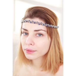 "Сrown headband""Silver miracle"""