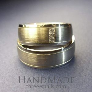 Sterling silver bands. Wedding band set