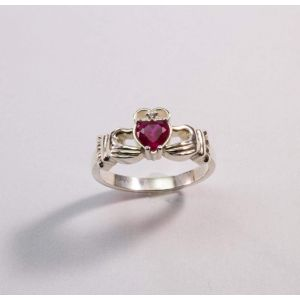"Sterling silver jewelry. Irish ring ""Pink heart"""