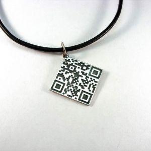 "Sterling silver pendant ""QR-Code"""