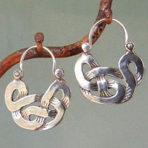 Sterling silver pretzel earrings