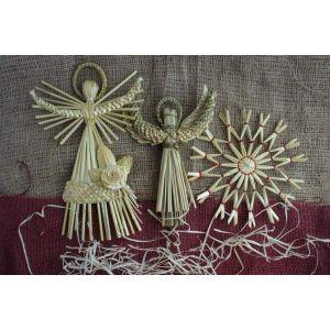 "Straw Christmas ornaments ""Solar Angels"""