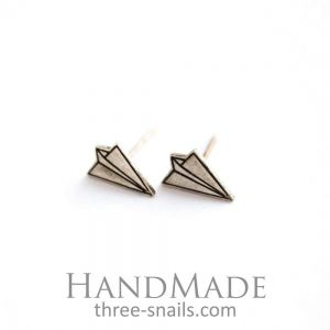 "Stud earrings for women ""Planes"""