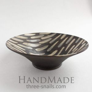 "Stylish ceramic bowl ""Dark desire"""
