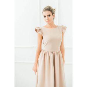 "Summer cotton dresses ""Beige butterfly"""