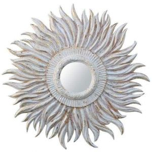 Sunburst design mirror