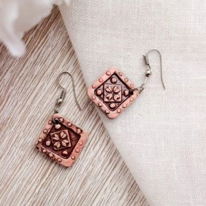 "Сute earrings ""Ceramic pattern"""
